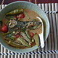 Mackerel Curry with Okra and Tomato